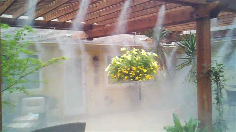 high pressure patio misting by mistcooling