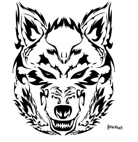 collection of 25 new tribal wolf tattoo design