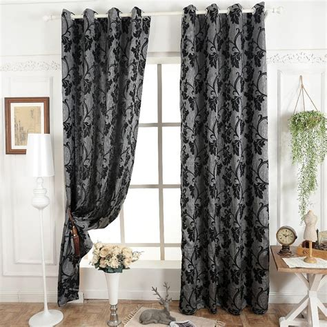 Modern Fabrics For Curtains Grey Blinds Window Treatments Semi Blackout 3d Curtains For Living Room Modern Curtain