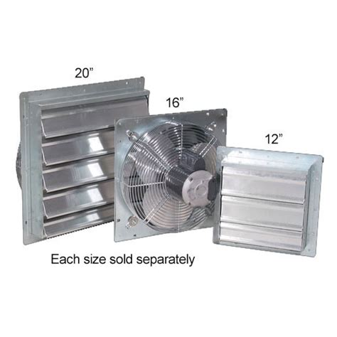 exhaust fan with shutter commercial shutter fan greenhouse exhaust fans