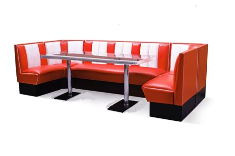 diner couch retro furniture diner booth set hollywood 130 x 300 x