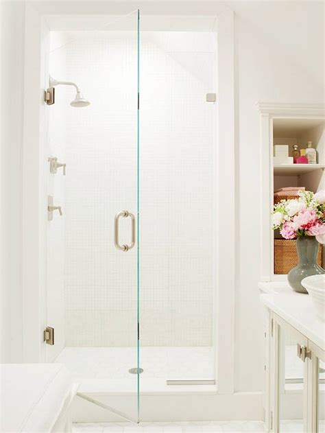 Bhg Bathrooms by Small Shower Design Transitional Bathroom Bhg