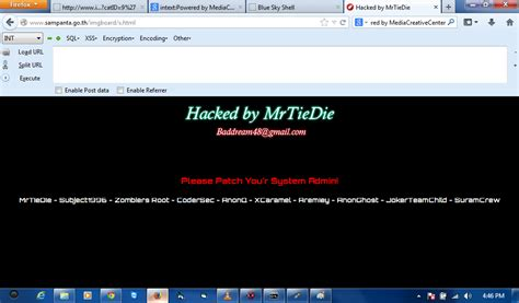 Tutorial Deface | tutorial deface dengan mediacreativecenter html injection