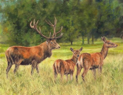 Home Design Decor Blog by Red Deer Family Painting By David Stribbling