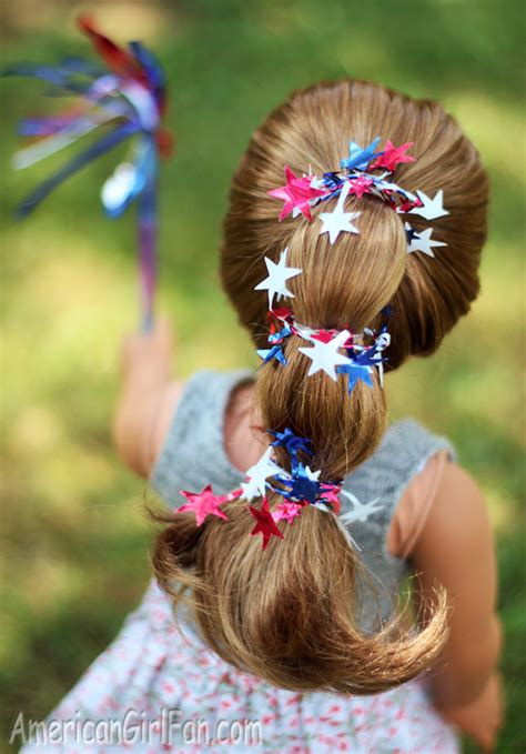 Hairstyle Doll by Doll Hairstyle 4th Of July Ponytail Americangirlfan