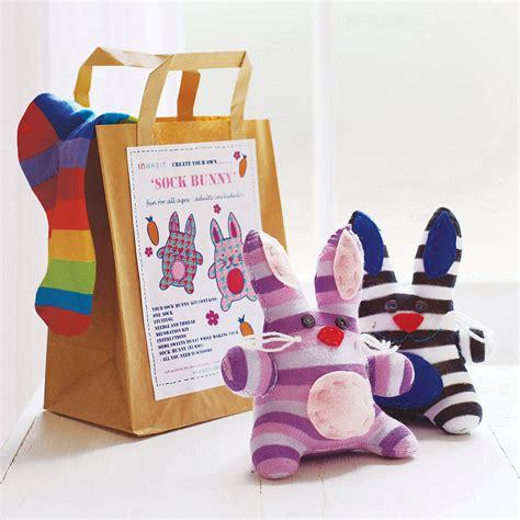sock bunny craft kit sock bunny craft kit by sock creatures notonthehighstreet