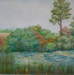 musings of a chocolate lover landscape colored pencil