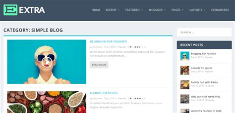 remove design by elegant themes amazing extra also lets you build a flat design website