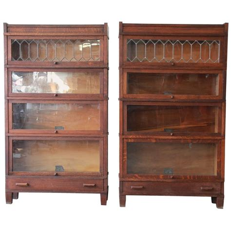 barrister bookcases with glass doors antique oak bookcase with glass doors antique furniture