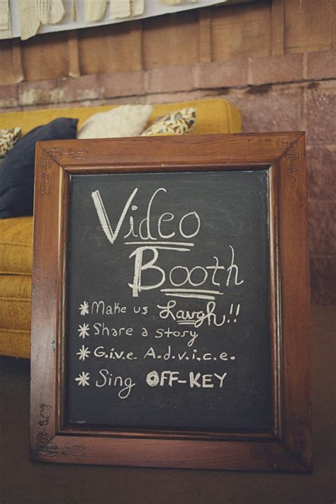 use a video booth get your unique affordable wedding