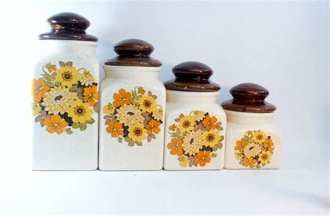 Sunflower Kitchen Canisters set ceramic canister kitchen canisters 4 white storage lids