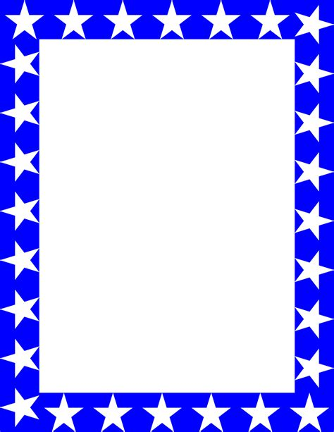 printable star picture frame blue star border pics about space