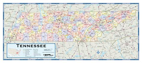 tn county map tennessee counties wall map maps