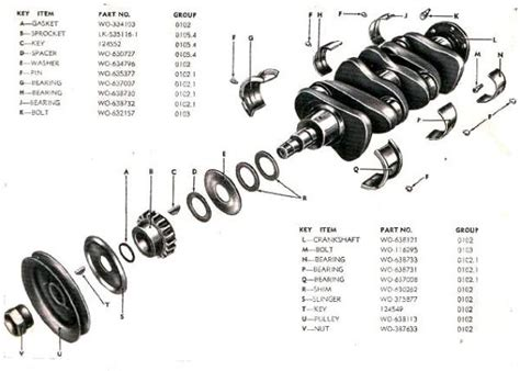 crankshaft diagram willys jeep parts diagrams illustrations from midwest