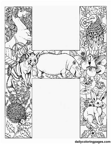 abc see hear do coloring book books animal alphabet letters to print each letter is filled