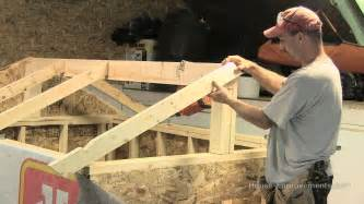 How To Build A Roof How To Build A Shed Part 3 Building Installing Rafters