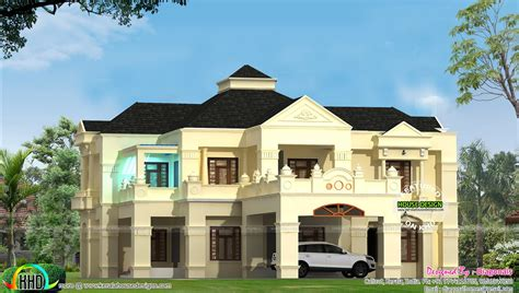 4500 square foot house colonial style 4500 sq ft home design kerala home design