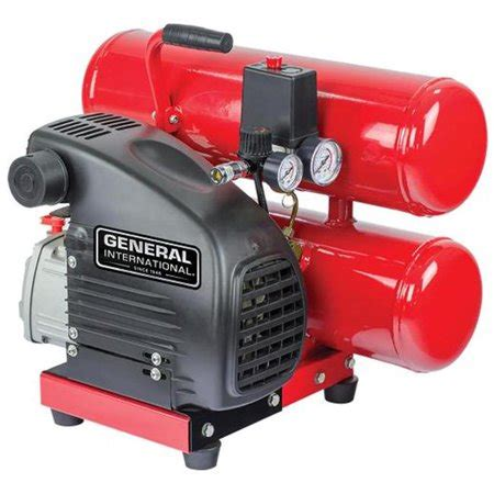 general international ac1105 1 5hp 4 gal stack lubricated electric air compressor