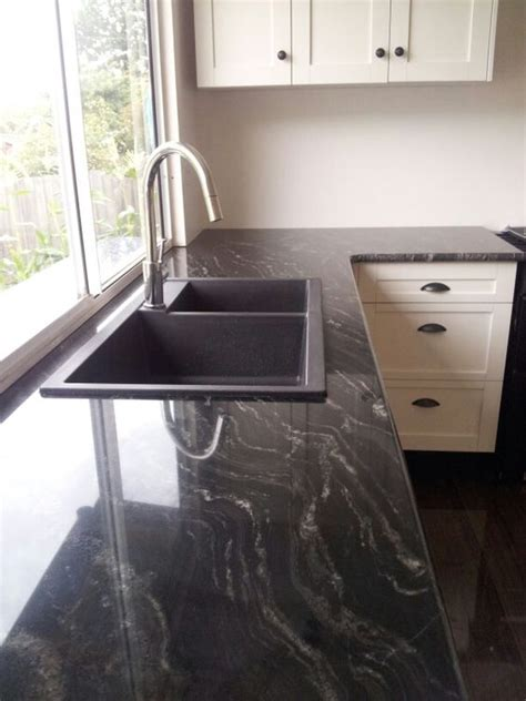 black granite bench black granite bench top with matching black sink amazing