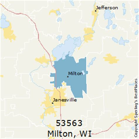 zip code map janesville wi best places to live in milton zip 53563 wisconsin