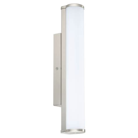satin nickel bathroom lights calnova led satin nickel bathroom wall light 94715 the