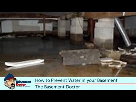 how to prevent water in the basement crawl space diy