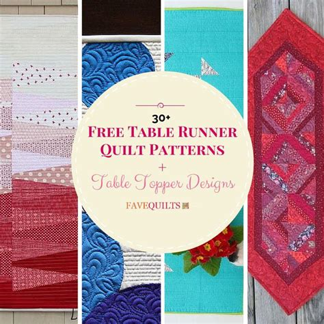 30  Free Table Runner Quilt Patterns and Table Topper