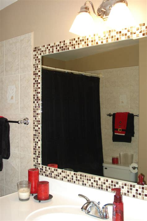 simple   dress   plain bathroom mirroradd tile