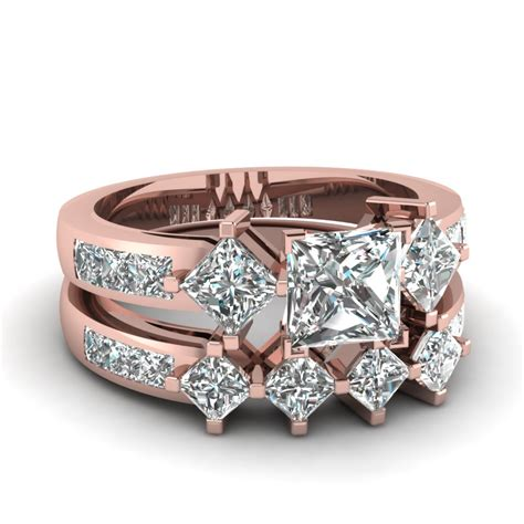 2 5 ct princess cut kite set wedding ring sets