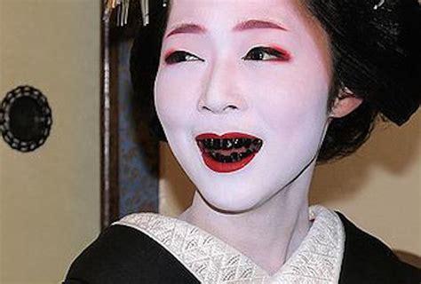 black teeth ohaguro why did the japanese dye their teeth black