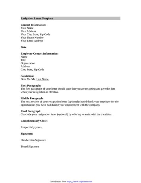 Resignation Letter Microsoft Template by Resignation Letter Template Free Templates In Doc Ppt Pdf Xls