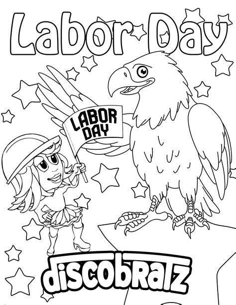 printable coloring pages labor day discobratz celebrates the workers of the world with a