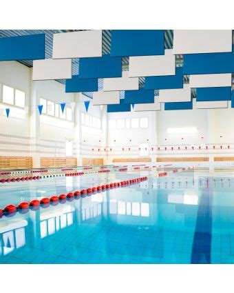 soundproofing pool noise ceiling sound baffles hanging sound absorbing panels