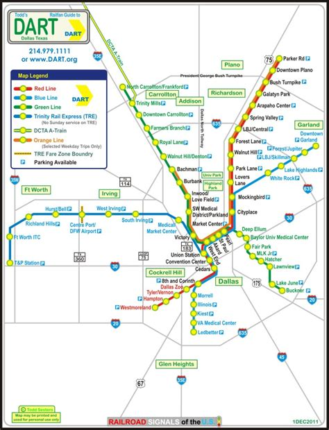 dart map dallas tx dart s light rail system