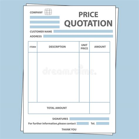 eps format full form quotation form stock vector illustration of money form