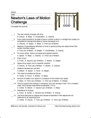Fun Ways To Learn About Newton S Laws Of Motion Force