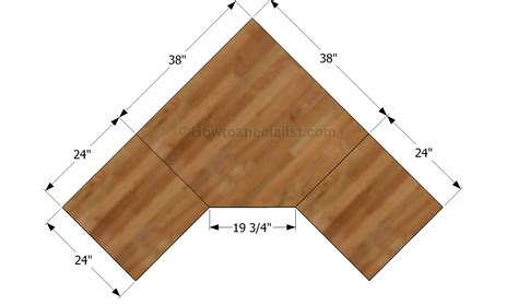 Hey Ana Diy Corner Desk Plans One And 1 4 Sheet Plywood Corner Desk Blueprints
