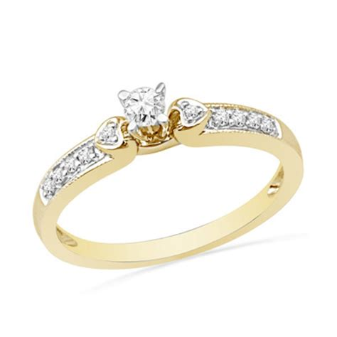 0 20 ct t w accent promise ring in 10k