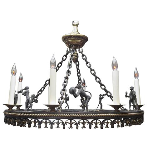 Monkey Chandelier Bronze Monkey Band Chandelier By Maitland Smith At 1stdibs