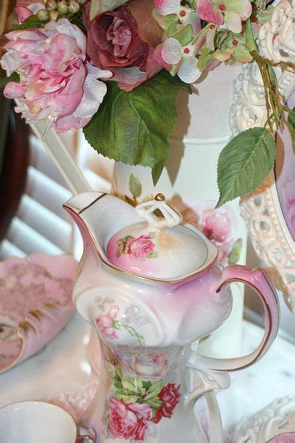 Kettle Pot Flower Vas Bunga Mawar Shabby Chic Putih 17 best images about periwinkle tea room cottage and gardens on