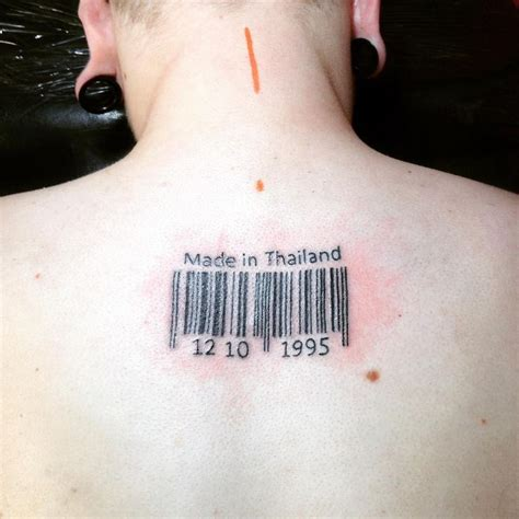 bar code tattoo 25 best ideas about barcode on cholo