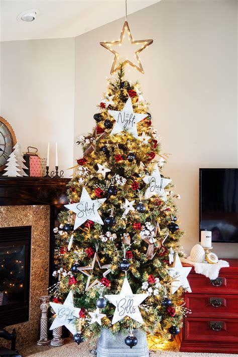 howtoput a star on a christmastree diy farmhouse carol tree ornaments whipperberry