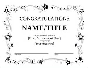 Congratulations Template by Doc 666516 Congratulations Certificate Template