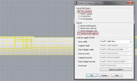 messa in tavola tutorial rhino 3d messa in tavola piante e prospetti
