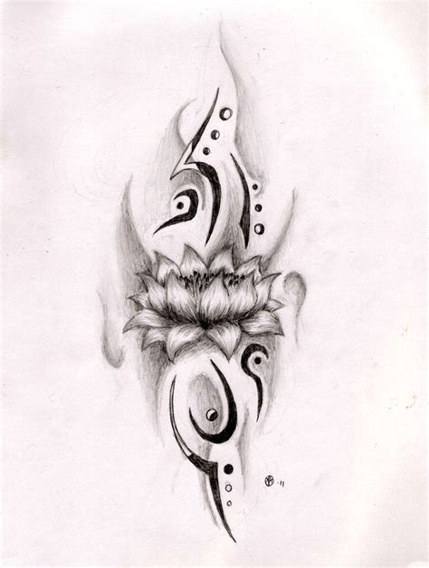 tribal lotus tattoo designs lotus by ethean on deviantart