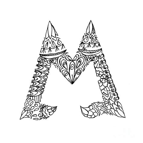 M Drawing Images by Patterned Letter M Drawing By Alyssa Zeldenrust