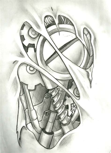 tattoo designs mechanical mechanical layout in photoshop 9 hours of work
