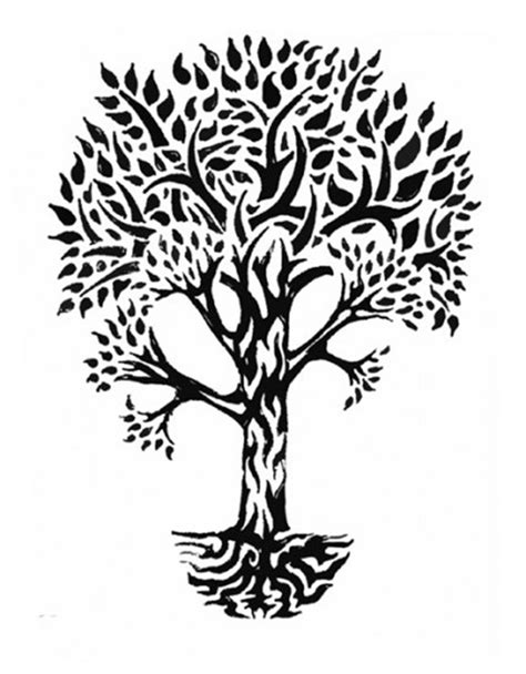 tribal tree tattoo designs family trees tribal totems and designs