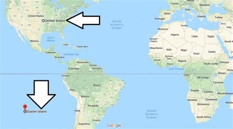 where is easter island located on a world map where is map