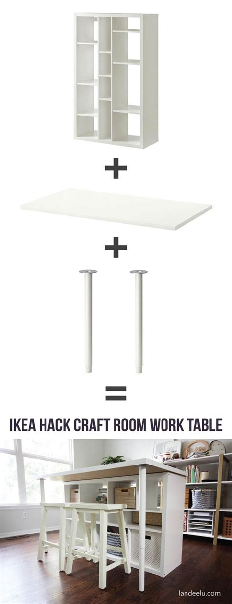 diy craft table ikea ikea hack craft room work table awesome crafts and